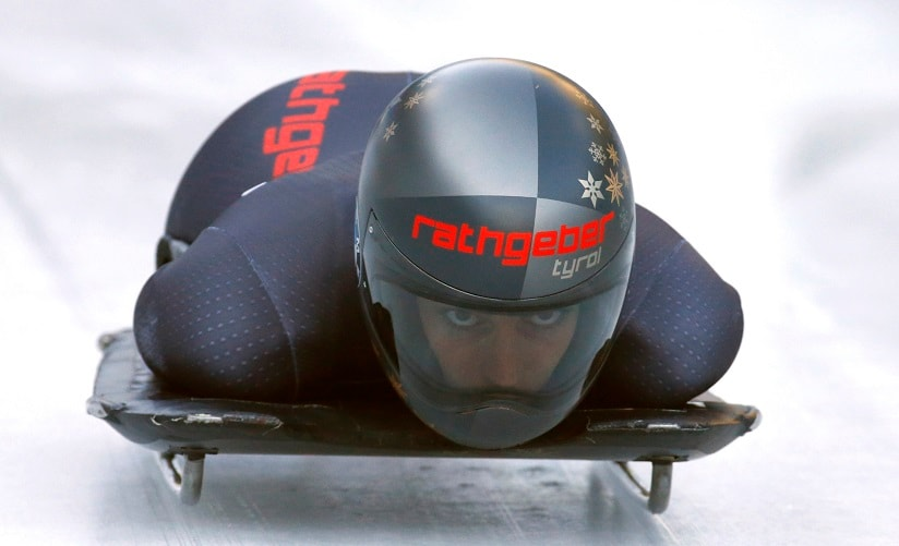 Austria's Janine Flock in action during the Skeleton World Championships in 2017. REUTERS