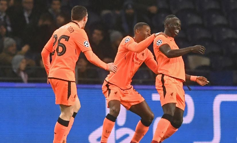 Sadio Mane's hat-trick helped Liverpool crush FC Porto at the Estadio do Dragao. AFP