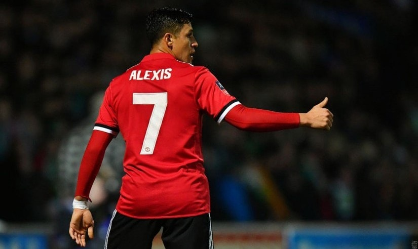 Manchester United signed Alexis Sanchez from Arsenal in a swap deal that saw Henrikh Mkhitaryan head to the Emirates. Image courtesy: Twitter/@ManUtd