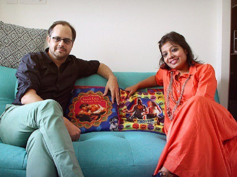 Writer duo Siddharth-Garima. Image from Twitter/@timesofindia