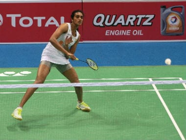 PV Sindhu in action against Ratchanok Intanon on Saturday. India Open