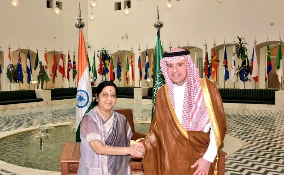 The two leaders also discussed the regional and global situation. Swaraj reaffirmed India's support to peace in the region and called for collective efforts in fighting the menace of terrorism. Twitter @MEAIndia