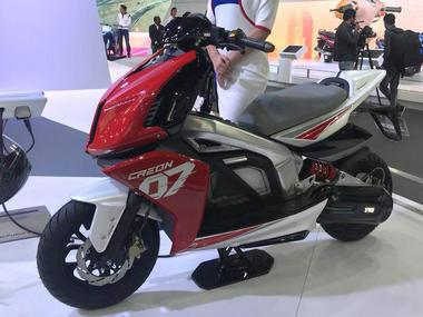 Auto Expo 2018: The TVS Creon concept scooter uses electricity to out-accelerate most sports cars