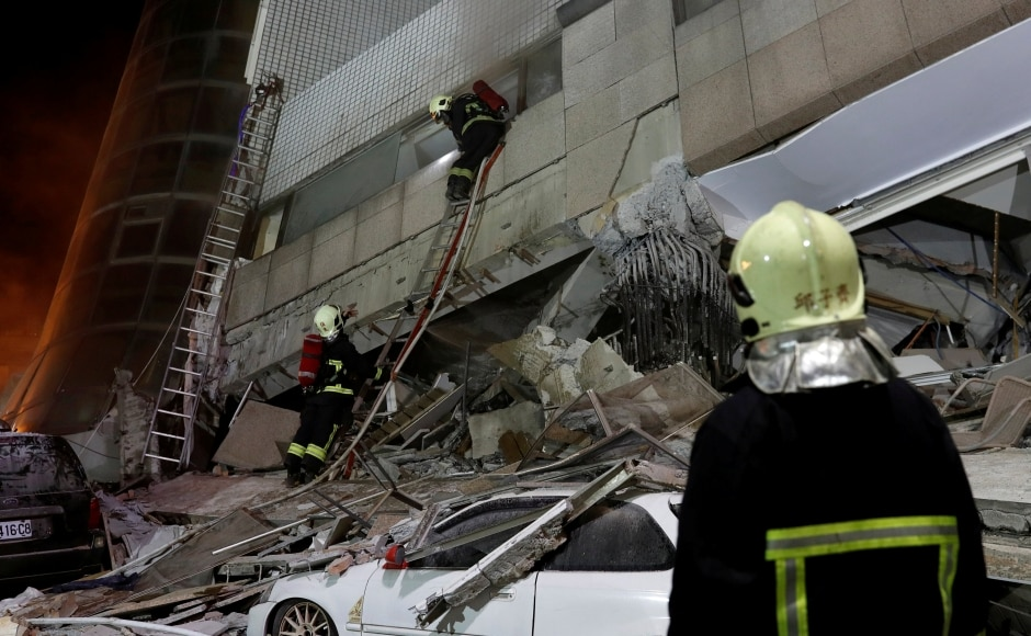Four mobile cranes had been brought in on the back of trucks to help prop up the structure. Five more buildings including a hospital and a hotel were also damaged in the city, where roads were ripped apart and strewn with rubble. Reuters