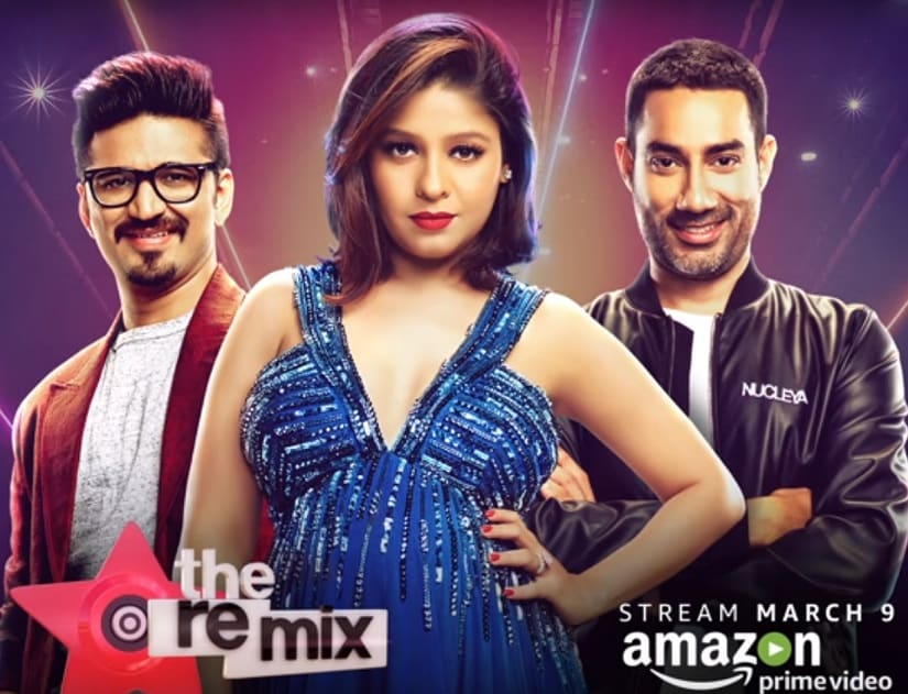 Amit Trivedi, Sunidhi Chauhan and Nucleya in The Remix. YouTube