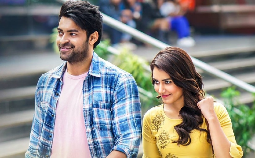 Varun Tej and Raashi Khanna in Tholiprema. Image via Facebook/TholiPremaFilm
