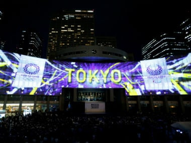 Images, using projection-mapping technology, are beamed on a building of Tokyo Metropolitan Government Office during a countdown event to mark three years until the Tokyo 2020 Summer Olympics in Tokyo, Japan. Reuters