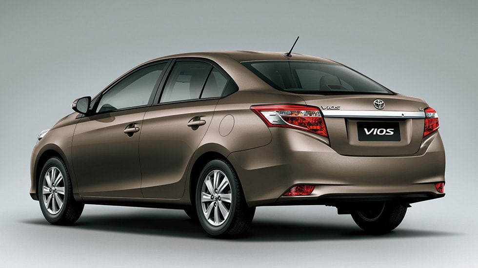 A rear view of the Toyota Vios. Image: Toyota Global