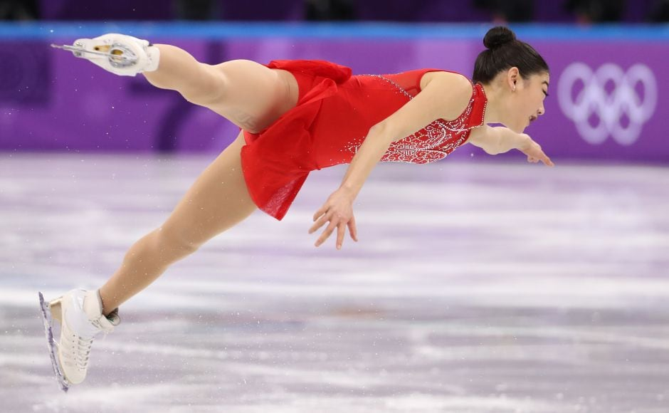 Mirai Nagasu of the US competes in the Women's Single Skating Free Skating competition. Nagasu became the first American woman to land a triple Axel at the Olympics. Reuters