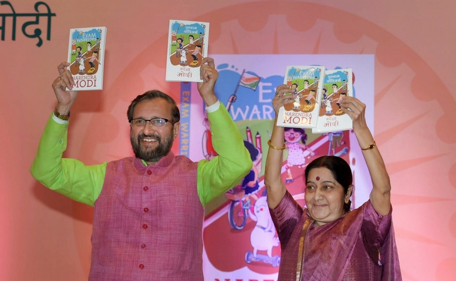 There are 25 mantras given in the book by Modi, which help students, their parents as well as teachers on how to handle anxiety and stress during exams. Swaraj described in detail the 25 mantras at the launch and urged students the read the book. PTI