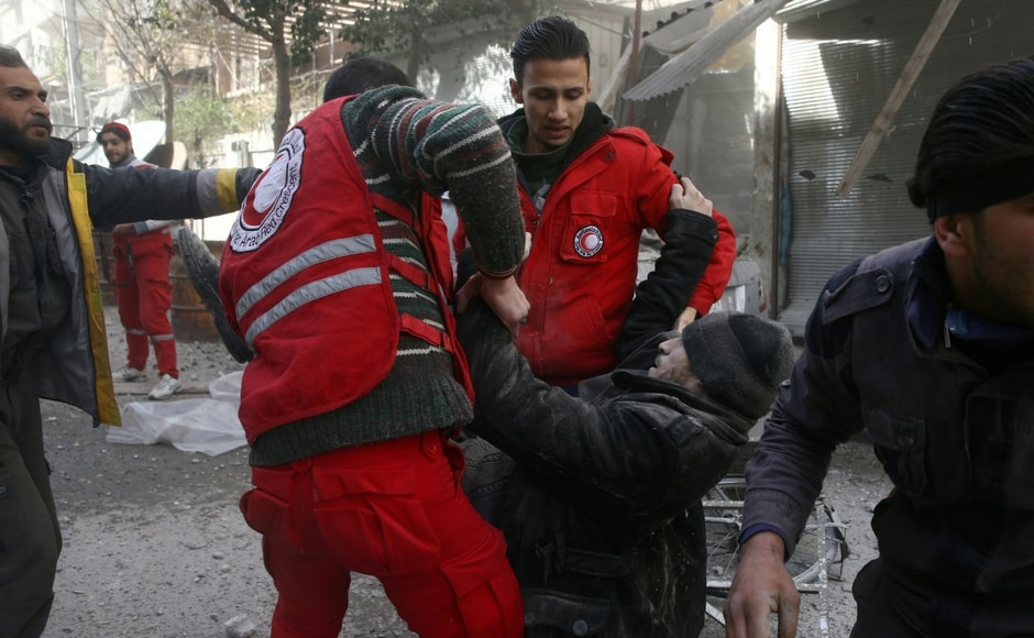 Observatory chief Rami Abdel Rahman said few rebels were among the dead because they rarely left their tunnels and had better protection from air strikes than civilians, estimated to number around 4,00,000 in Ghouta. Reuters