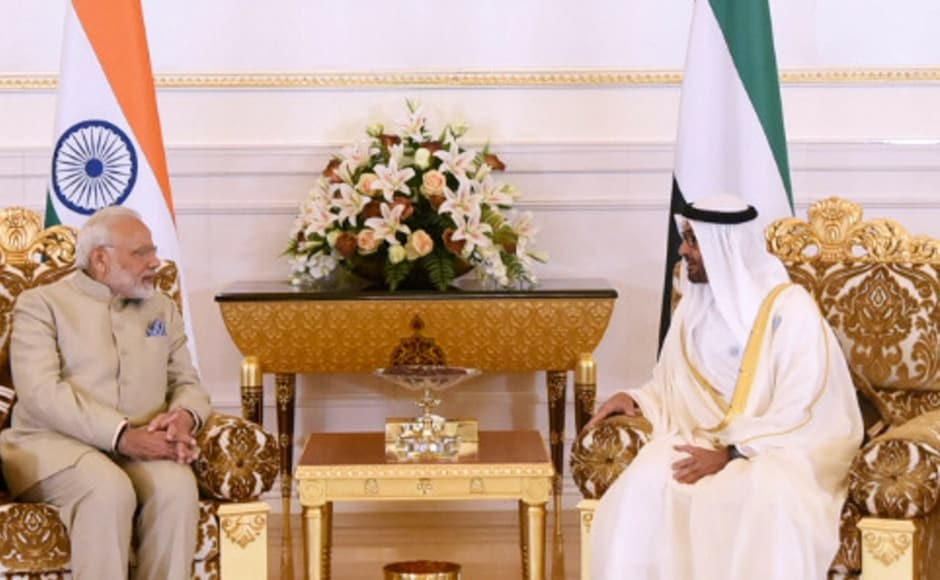 Prime Minister Narendra Modi held wide-ranging talks with Crown Prince of Abu Dhabi Mohamed bin Zayed Al Nahyan on Saturday as the two sides signed five agreements. PTI