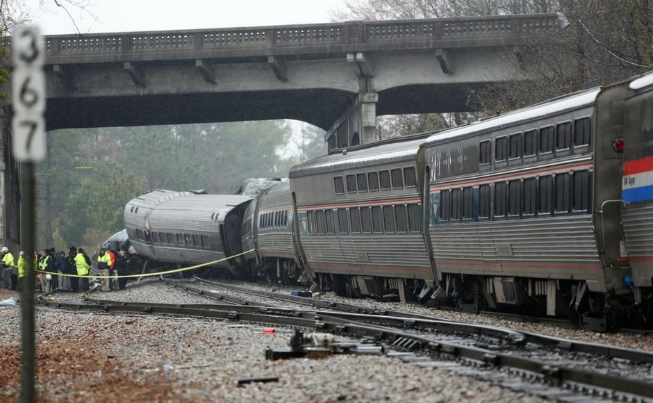 South Carolina governor Henry McMaster said Amtrak was on the wrong track and it was a horrible thing to see and understand what forces were involved for the accident. Reuters