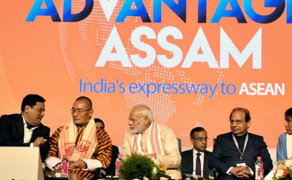 Addressing the event held at the Sarusojai Stadium, the prime minister expressed his happiness that Bangladesh and Bhutan have opened their consulate offices in Guwahati and said the North East is at the heart of India's 'Act East policy'. PTI