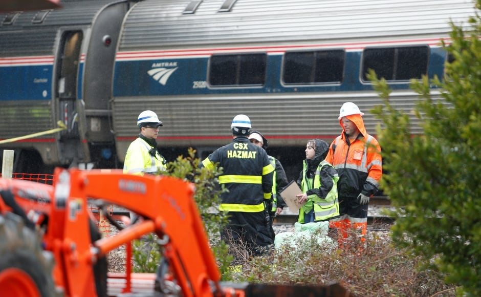 Amtrak Train 91 was carrying 139 passengers and eight crew members to Miami from New York when it hit the freight train at about 2.35 am local time near Columbia, South Carolina's state capital. Reuters