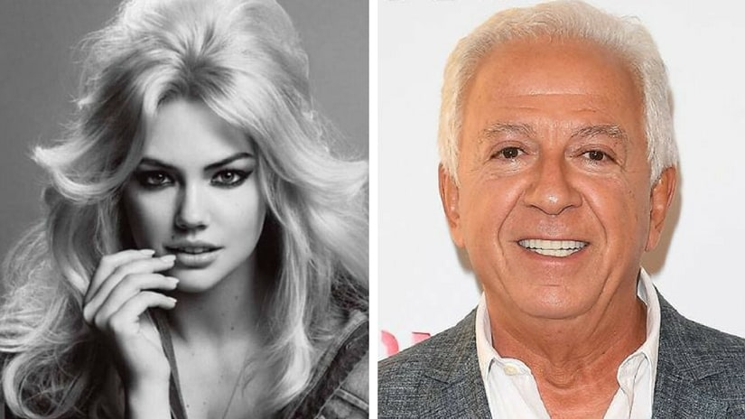 Kate Upton (left); Guess's co-founder Paul Marciano (right). Facebook