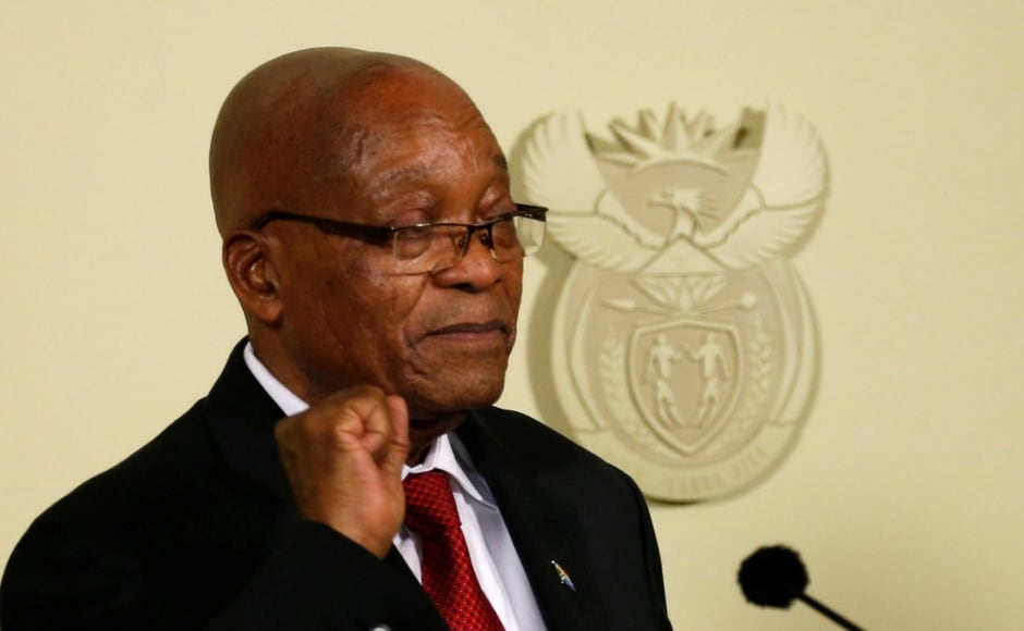 Zuma railed against the African National Congress (ANC) for 'recalling' him from office and threatening to oust him via a parliament no-confidence vote due on Thursday. Reuters