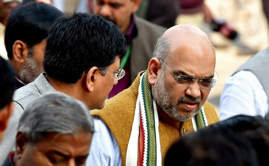 Modi heaped praise on BJP president Amit Shah for his maiden speech in the Rajya Sabha and made reference to his rally in Tripura stating huge crowd turned over despite attempts of the state's Left government to prevent people from attending it. PTI