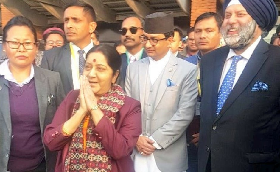 Sushma Swaraj lent India's support to Nepal in its efforts towards attaining political stability and development after the successful conclusion of parliamentary and provincial elections. Twitter@MEAIndia