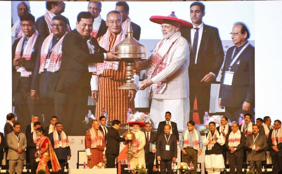 Bhutanese prime minister Tshering Tobgay, several Union ministers, chief ministers of Arunachal Pradesh and Manipur, ambassadors and high commissioners of 16 countries are attending the Summit. PTI