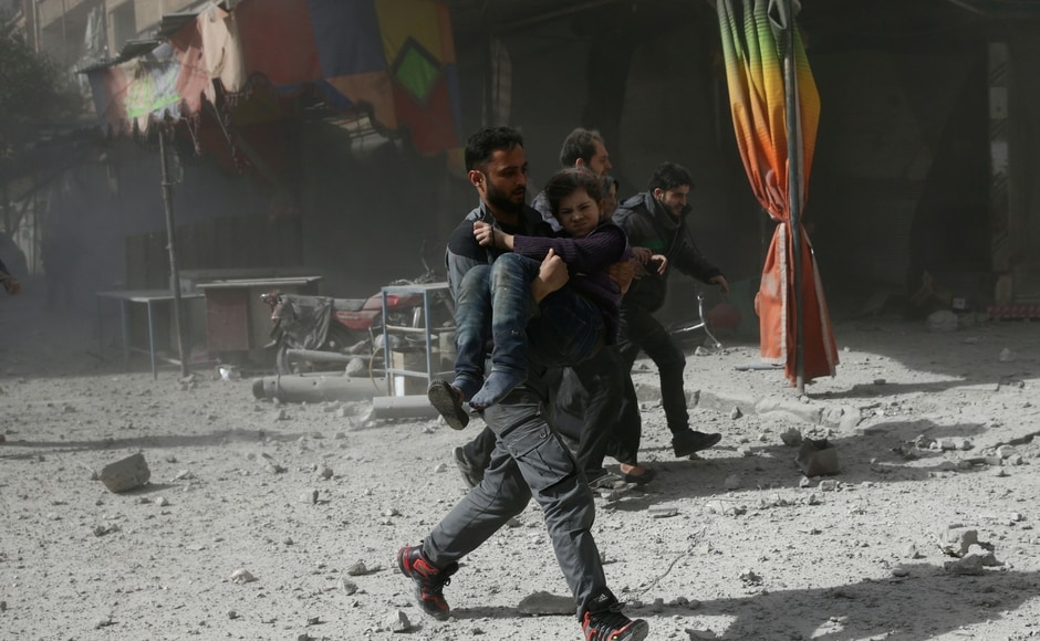 The latest casualties in Ghouta comes as Washington threatened military action over the reported use of chemical weapons. Reuters