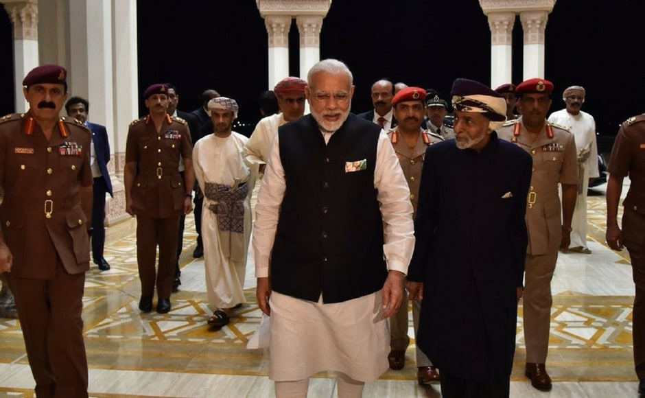 Modi arrived from Dubai on the last leg of his three-nation tour, led delegation-level talks with Sultan Qaboos bin Said al Said and discussed measures to strengthen cooperation in trade and investment, energy, defence, security, food security and regional issues. Twitter@narendramodi
