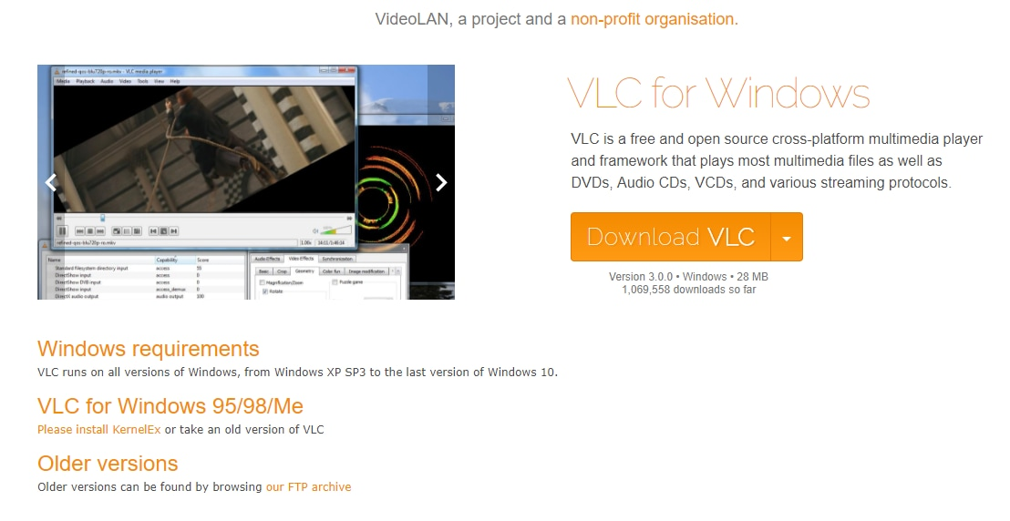 VLC 3.0 is available for Macs, PCs and phones