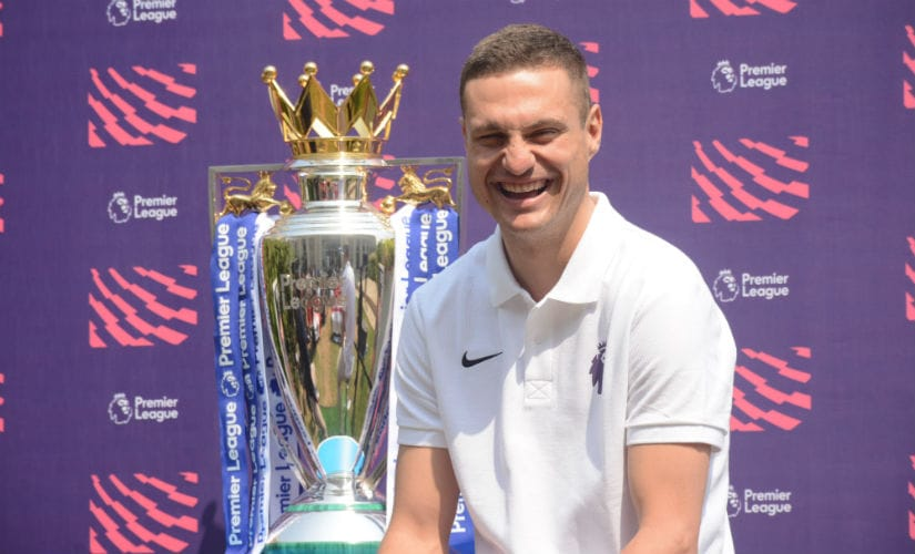 Former Manchester United defender Nemanja Vidic at the Football Movement event in Mumbai.