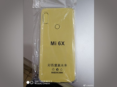 This image of an alleged Mi 6X case was leaked by a Weibo user