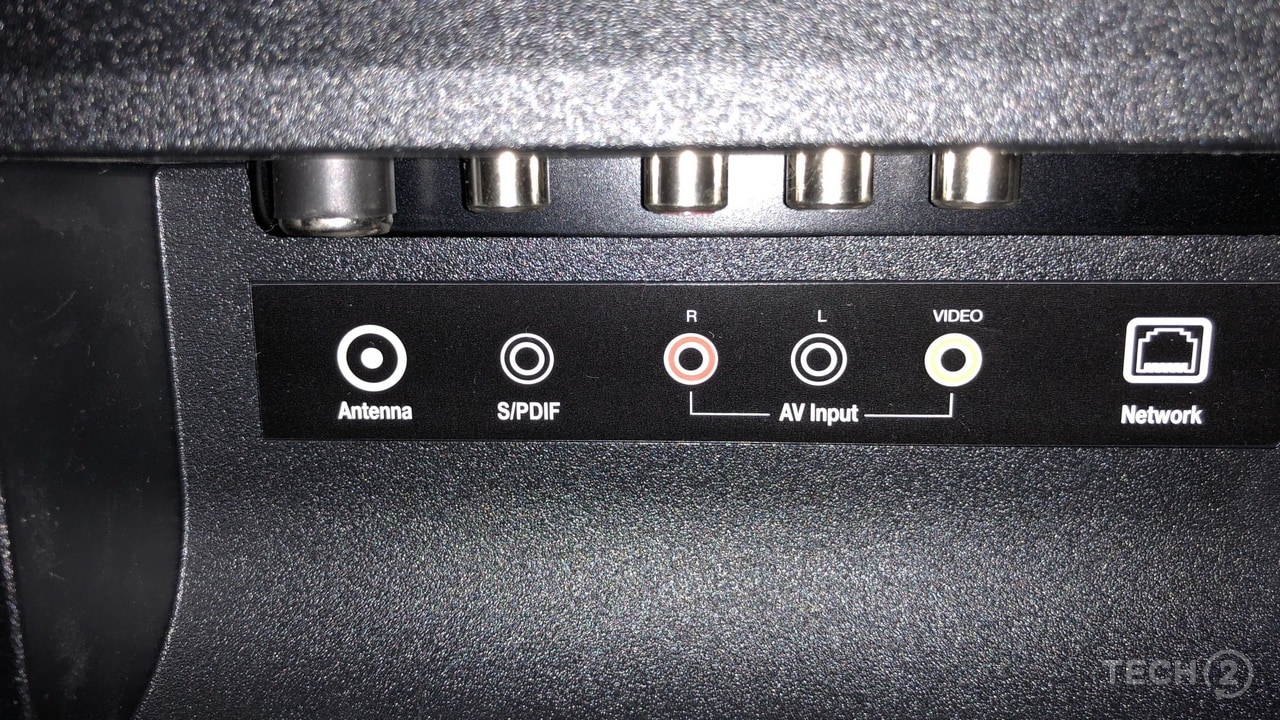 The ports at the back of the MI TV 4. Image: tech2/Nimish Sawant