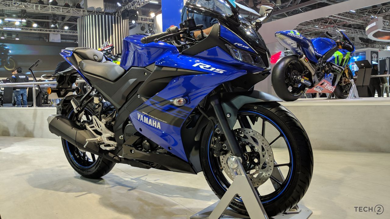 Auto Expo 2018: Yamaha R15 V3.0 launched at Rs 1.25 lakh retains the aggressive look of its elder siblings