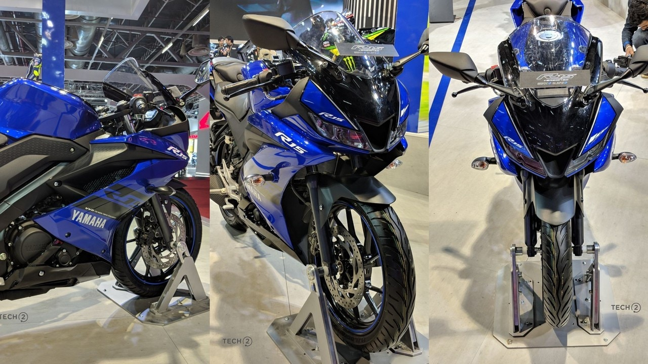 The new 155 cc, liquid-cooled engine on the Yamaha R15 V3.0 produces 19 bhp at 10,000 rpm and 15 Nm of peak torque at 8500 rpm.