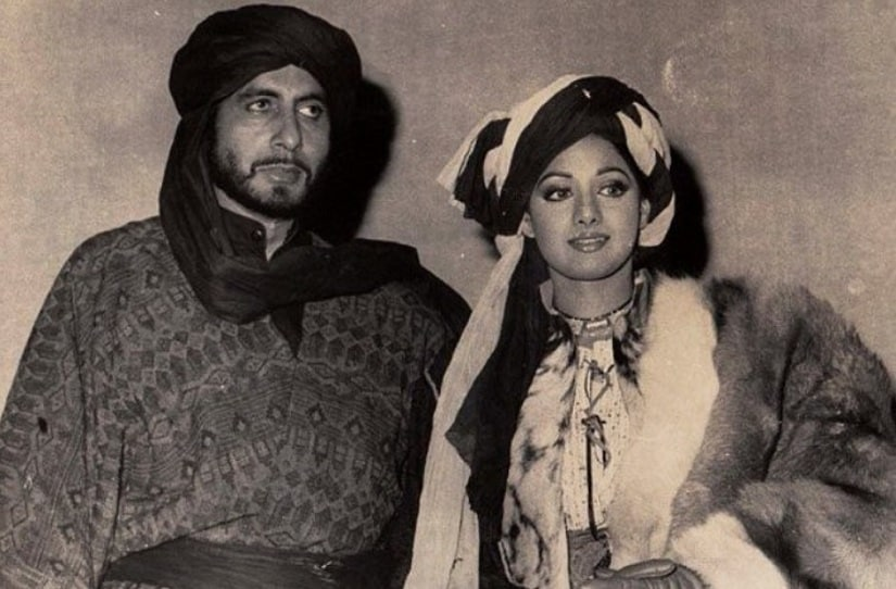 Amitabh Bachchan and Sridevi in Khuda Gawah. Image from Twitter/@i__am__asr