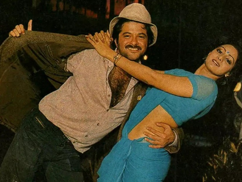 Anil Kapoor and Sridevi in Mr India. Image from Twitter/@MalayD