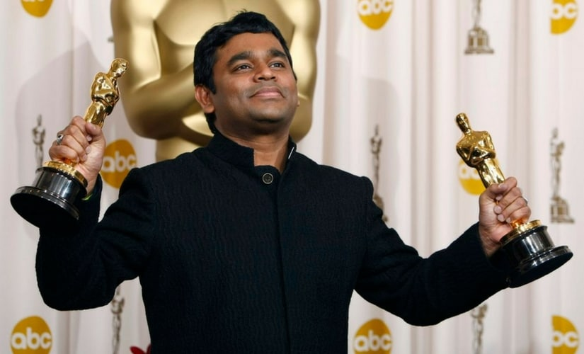 AR Rahman after winning the two Oscars in 2008/Image from Twitter.