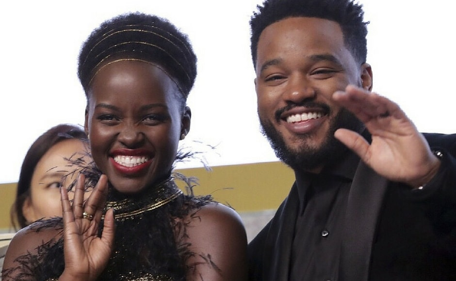 Lupita Nyong'o and Ryan Coogler at the Seoul premiere of Black Panther/Image from Instagram/@marvelstudios