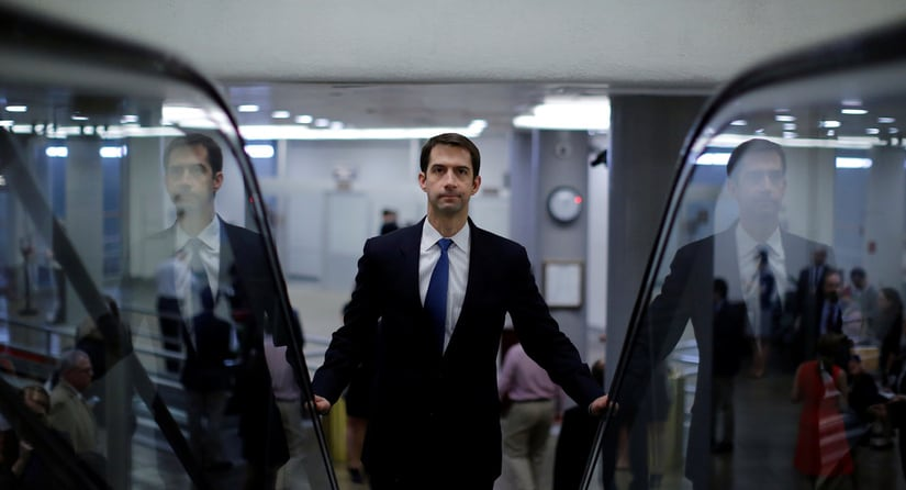 Senator Tom Cotton's escalator pitch is already Trump's favorite. He's the man to watch as the immigration showdown begins/ REUTERS
