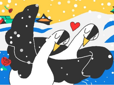 Google Doodle is celebrating Valentines Day and Winter Olympics 2018 Day 6. Google