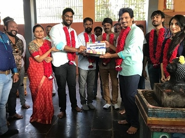 Gorilla team kicks off the shoot. Image courtesy Twitter/@@Actorjiiva