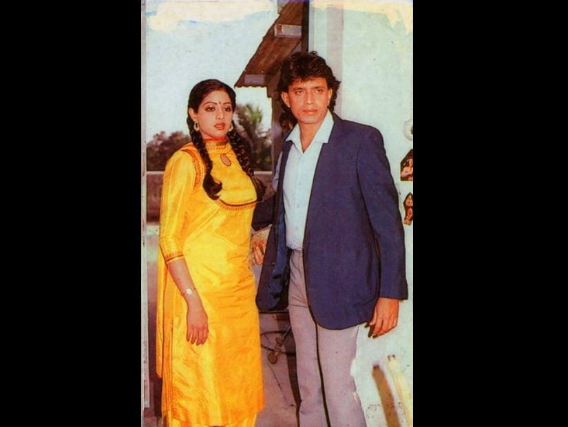 Sridevi and Mithun in Guru. Image from Twitter/@MurthyBlr