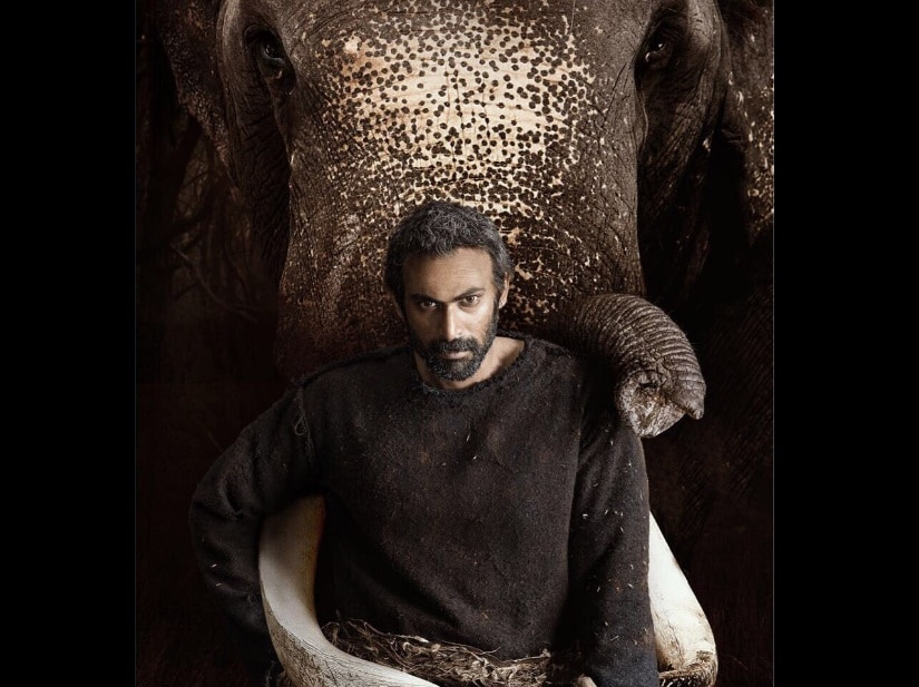 Haathi Mere Saathi first look. Image from Twitter/@Bollywoodgw