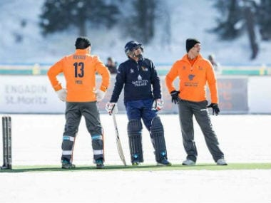 St Moritz Ice Cricket 2018 pushes barrier of mundane with game being played on frozen lake