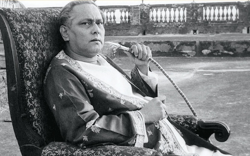 Chhabi Biswas in a still from Jalsaghar