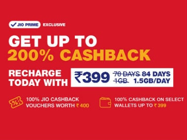 Jio cashback offer can get you up to Rs 799 cashback on a recharge of Rs 398 and above