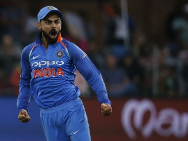 India captain Virat Kohli reacts after a wicket in the 5th ODI against South Africa in Port Elizabeth. AFP