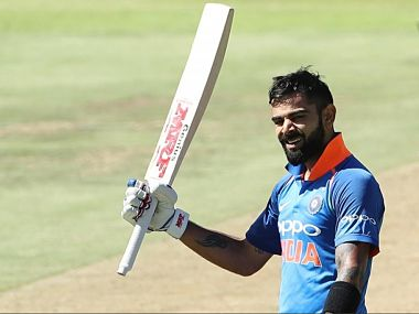 Virat Kohli scored his 34th ODI hundred in the 3rd ODI against South Africa at Cape Town. Image Courtesy: Twitter @BCCI