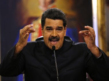 File image of Nicolas Maduro. AP