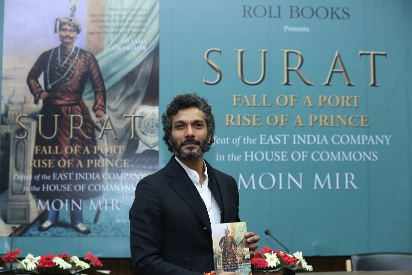 Moin Mir at the launch of 'Surat: Fall of a Port, Rise of a Prince'