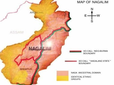 Map of Nagalim proposed by NSCN (IM). Image courtesy: www.nscnonline.org