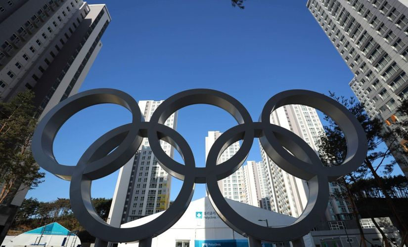 The Olympic Rings outside the Athletes Village. Image courtesy: Twitter/@Olympics